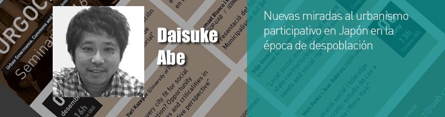 Seminari Daisuke Abe – 29 maig 13h