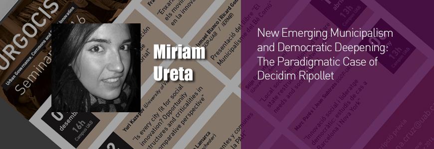 Miriam Ureta URGOCIS open seminar