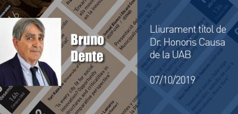 Lliurament del titol de Dr. Honoris Causa a Bruno Dente