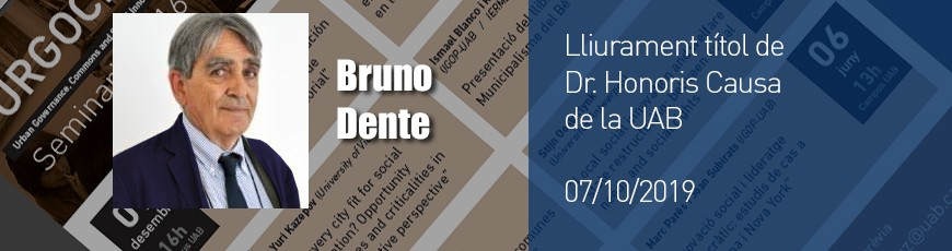 Lliurament del titol de Dr. Honoris Causa a Bruno Dente